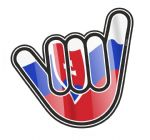 NO WORRIES Hand With Slovakia Slovakian Country Flag Motif External Vinyl Car Sticker 105x100mm